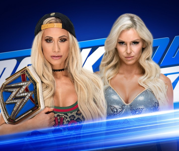 Charlotte Flair and Carmella sign the contract for their SmackDown Women's Title rematch at WWE Backlash